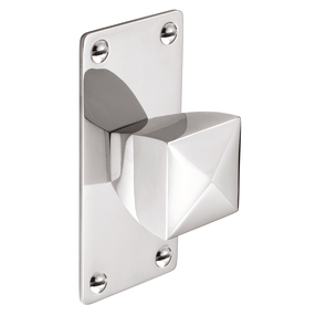 K878.34.BN Knob Square With Rectangular Backplate Bright Nickel Image