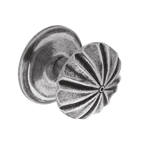 K894.37.PE Kitchen Knob 37mm Diameter C/W Backplate Pewter Image