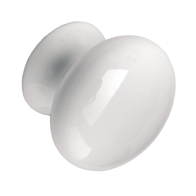SP7.39 Kitchen Knob 39mm Porcelain White Image