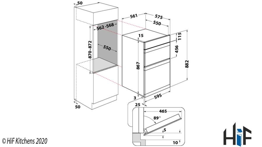 Indesit Aria IDD6340IXUK Double Oven Image 2