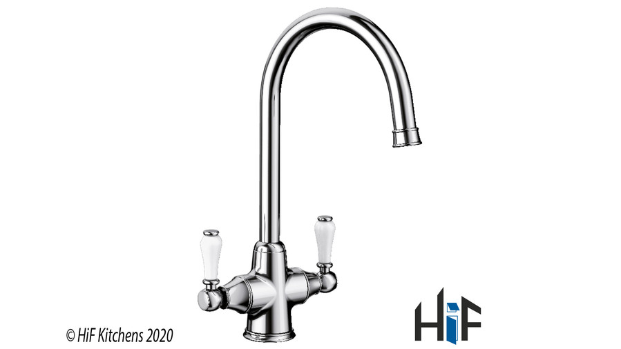 Blanco Vicus Twin Lever Chrome Kitchen Tap 524284 Image 1