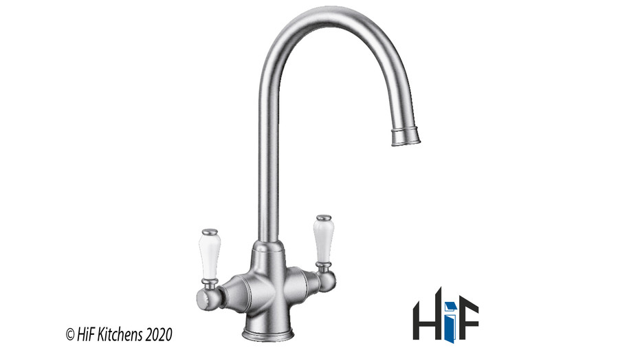 Blanco Vicus Twin Lever Chrome Kitchen Tap 524284 Image 3