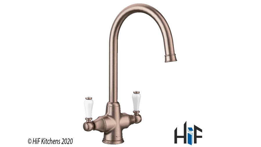 Blanco Vicus Twin Lever Chrome Kitchen Tap 524284 Image 4