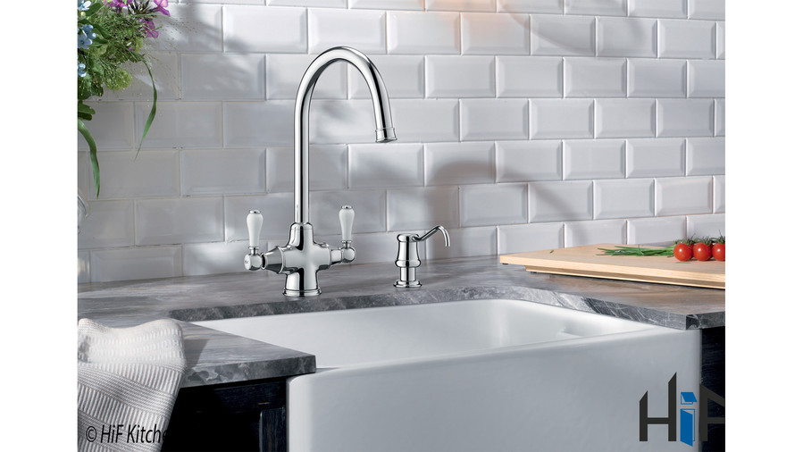 Blanco Vicus Twin Lever Chrome Kitchen Tap 524284 Image 5