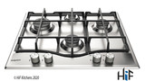 Hotpoint PCN641IXH 60cm Gas Hob Stainless Steel Image 1 Thumbnail