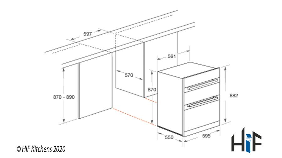 Hotpoint DKU5541JCIX  Built Under Double Oven Image 3