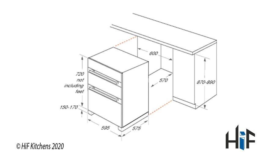 Hotpoint DKU5541JCIX  Built Under Double Oven Image 4